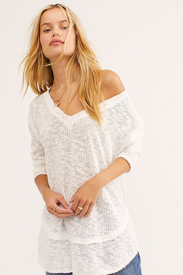 FREE PEOPLE OCEAN AIR HACCI - AVAILABLE IN IVORY AND WASHED BLACK - RETAIL STORE