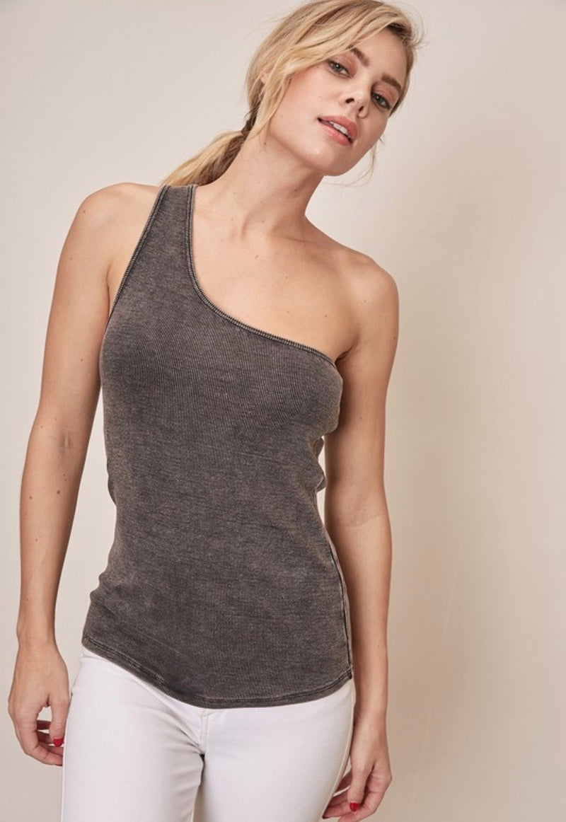 ONE SHOULDER TANK TOP - RETAIL STORE