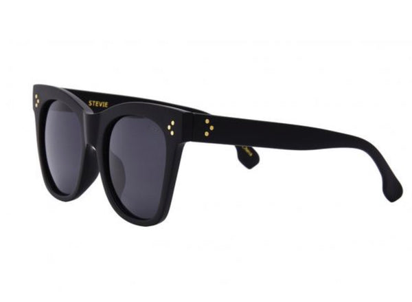 I-SEA STEVIE  SUNGLASSES - MATTE BLACK/SMOKE