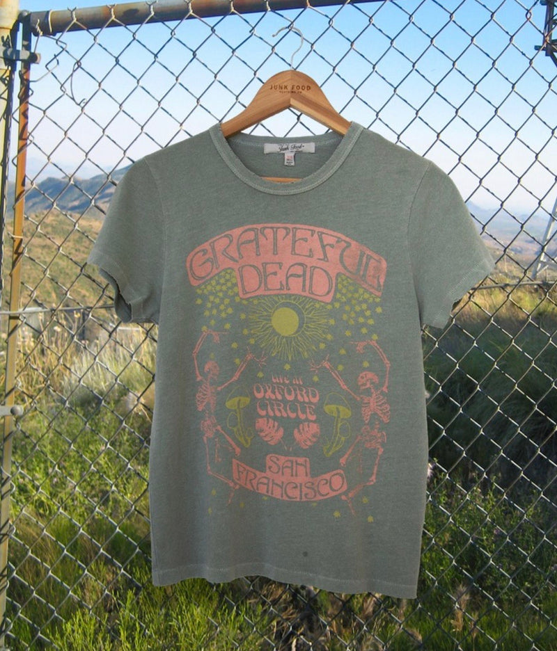 JUNK FOOD  CLOTHING - GRATEFUL DEAD SKELETON SOLSTICE TEE - RETAIL STORE