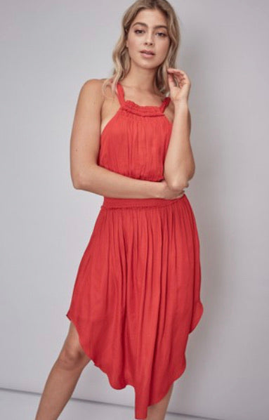 BOW TIE DRESS - RED - RETAIL STORE