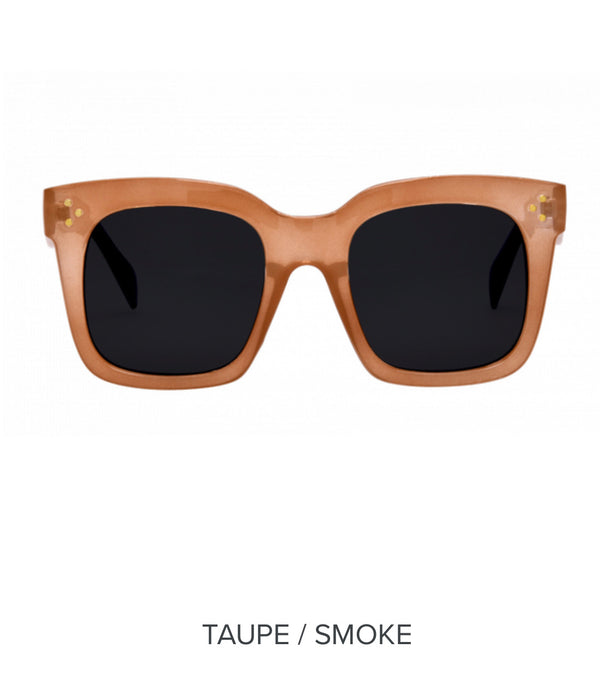 I-SEA WAVERLY SUNGLASSES - TAUPE & SMOKE - RETAIL STORE