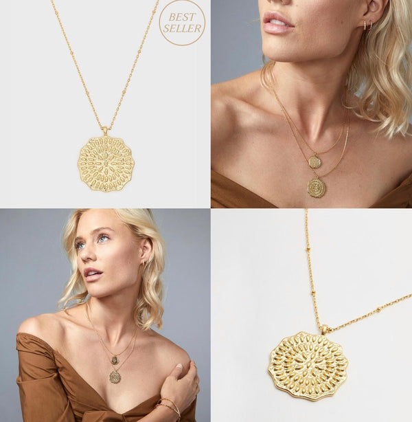 GORJANA MOSAIC COIN NECKLACE - GOLD - RETAIL STORE
