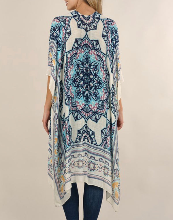 MEDALLION KAFTAN - AVAILABLE IN VANILLA NAVY, VANILLA RASPBERRY, NATURAL SPICE & NAVY POPPY - RETAIL STORE