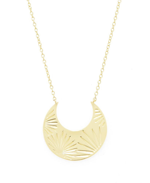 GORJANA AZUL CRESCENT NECKLACE- GOLD - RETAIL STORE