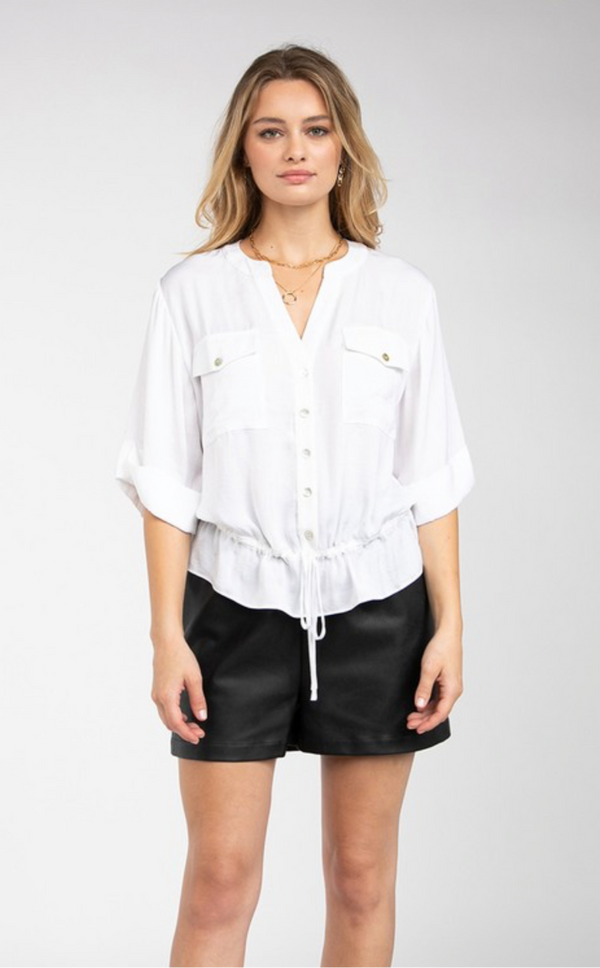BUTTON DOWN UTILITY SHIRT - OFF WHITE - RETAIL STORE