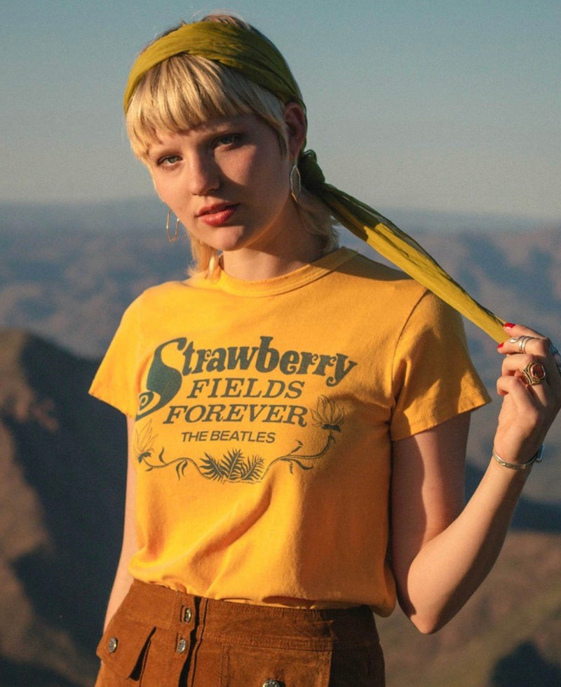 JUNK FOOD CLOTHING - BEATLES STRAWBERRY FIELDS FOREVER TEE - RETAIL STORE