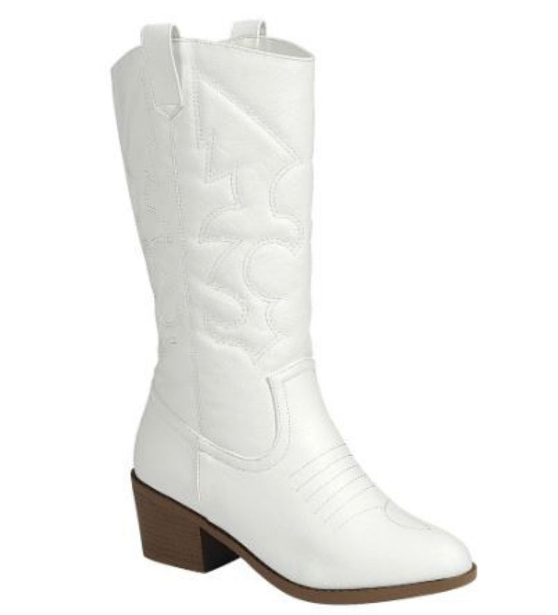 WESTERN BOOT-WHITE & BLACK-RETAIL STORE