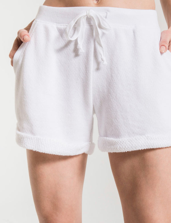 Z SUPPLY LOOSE LOOP BOYFRIEND SHORT - AVAILABLE IN WHITE & PALE BLUSH - RETAIL STORE