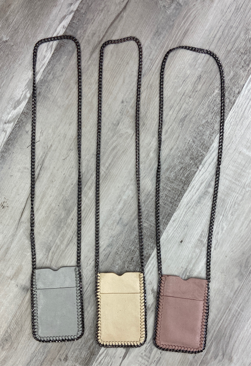 OPEN POCKET METAL CHAIN CROSSBODY BAG- RETAIL STORE