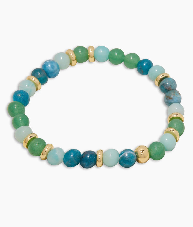 GORJANA POWER GEMSTONE MANTRA BRACELET - PASSION - RETAIL STORE