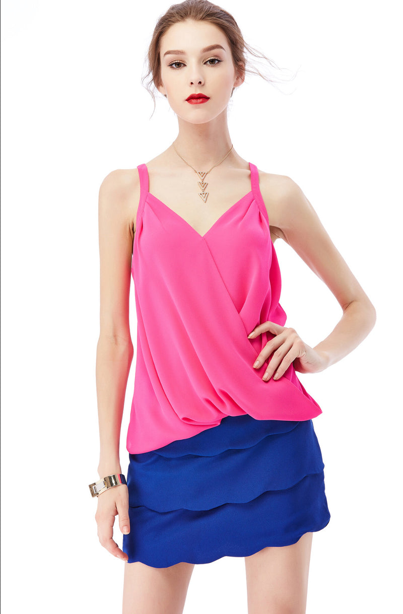 SURPLICE  TANK TOP - AVAILABLE IN MULTIPLE  COLORS - RETAIL STORE