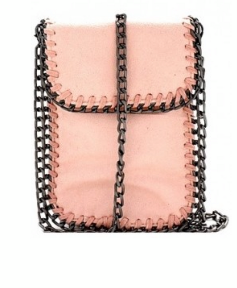METAL CHAIN CROSS BODY BAG - GREY, KHAKI, LIGHT GREY AND PINK - RETAIL STORE