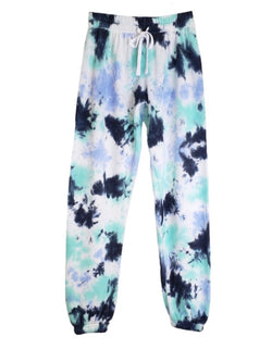 TIE DYE DRAWSTRING SWEATPANTS - NAVY - RETAIL STORE