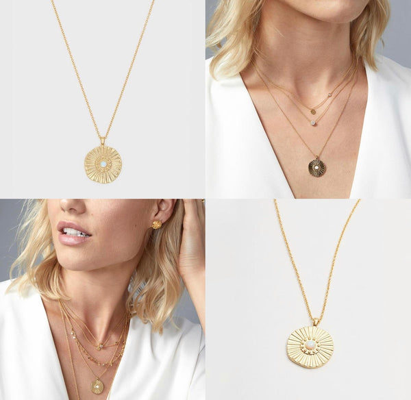 GORJANA SUNBURST COIN NECKLACE -GOLD - NECKLACE - RETAIL STORE