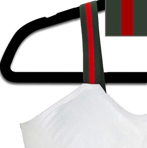 STRAP-ITS BRALETTE - WHITE/GREEN G STRIPE - RETAIL STORE