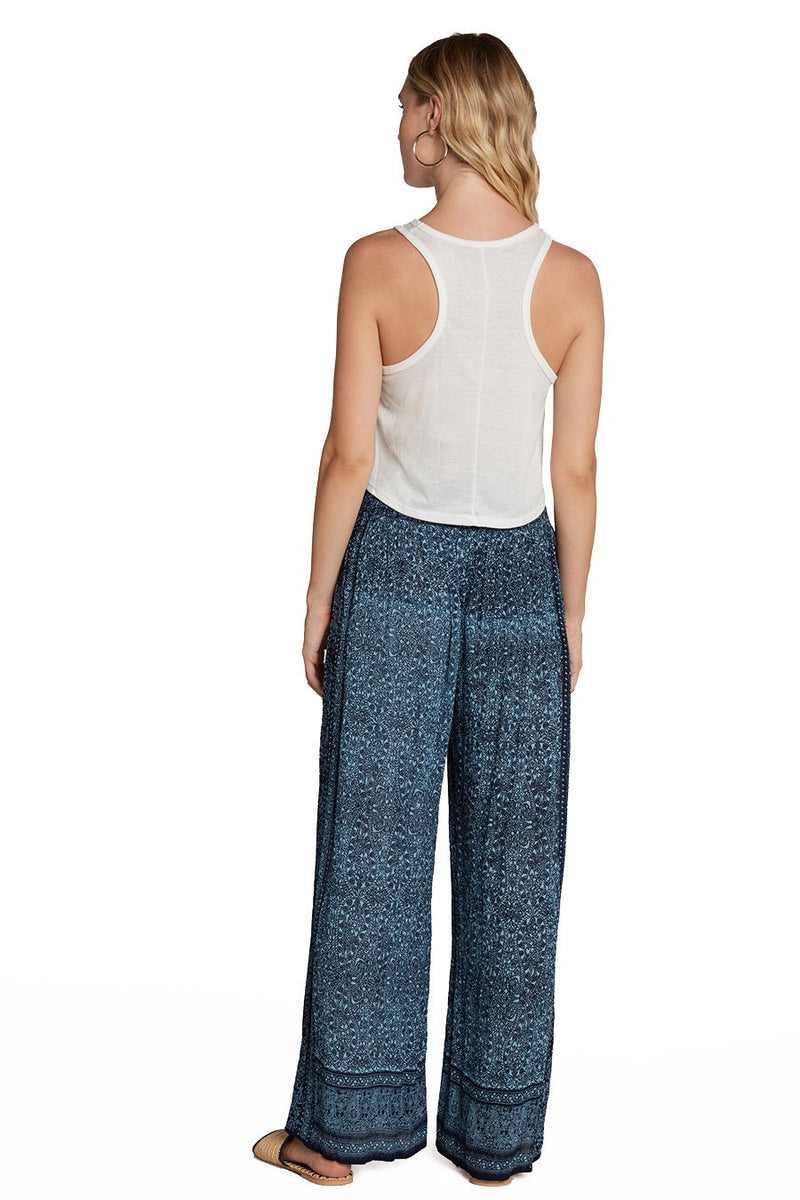WIDE LEG PANTS - BLUE - RETAIL STORE