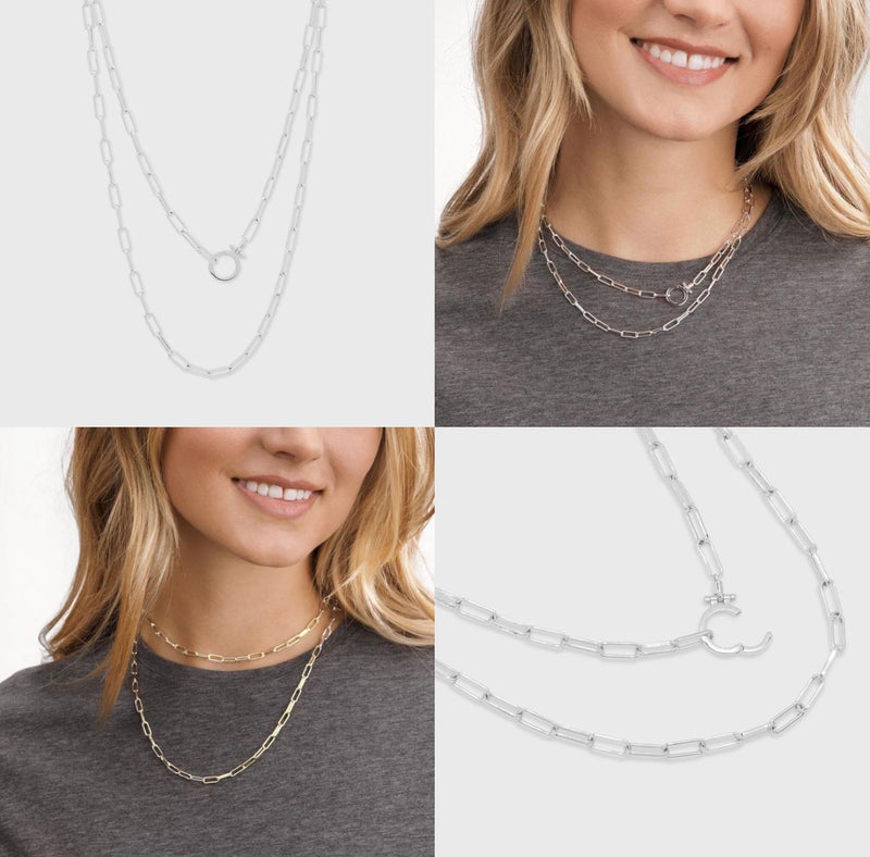 GORJANA PARKER WRAP NECKLACE - GOLD AND SILVER - RETAIL STORE