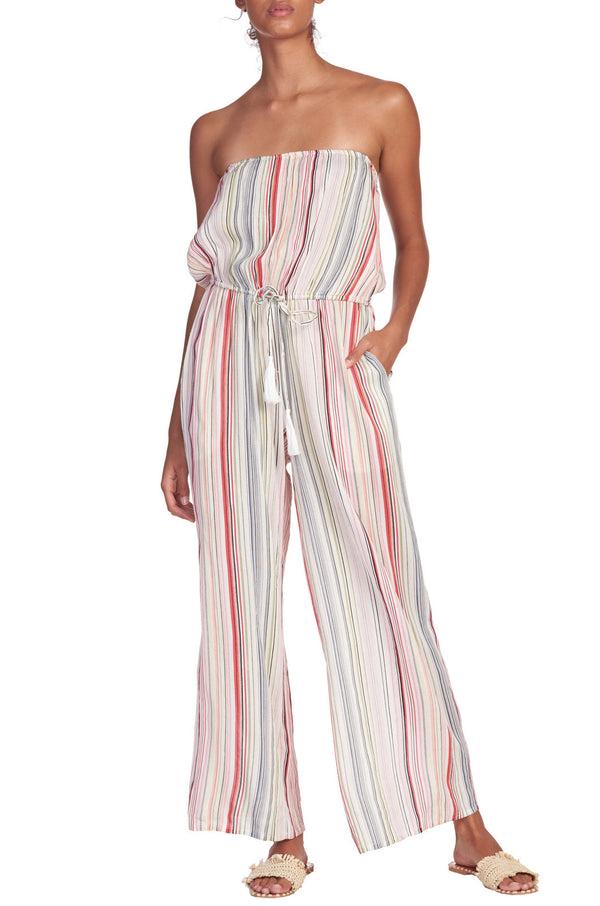 ELAN STRIPED JUMPSUIT - MULTI COLORED STRIPED  -RETAIL STORE