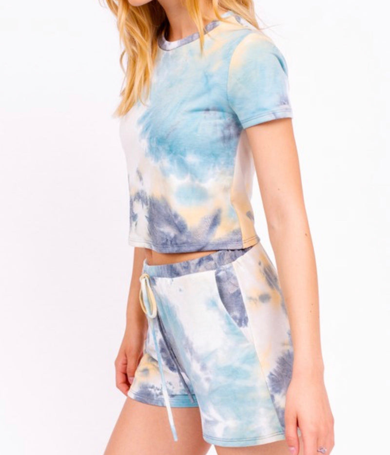 TIE DYE CROPPED TEE - RETAIL STORE