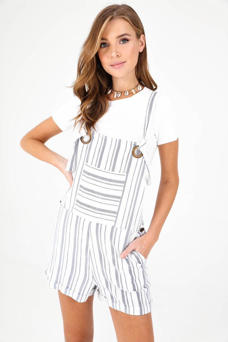 STRIPED SHORTALLS - RETAIL STORE
