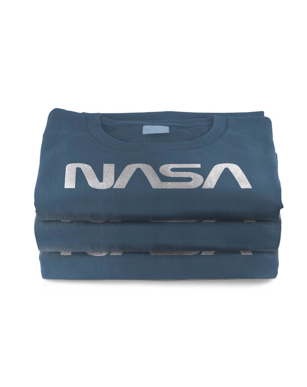 Men's Retro Vintage NASA Worm Logo Premium Soft T-Shirt