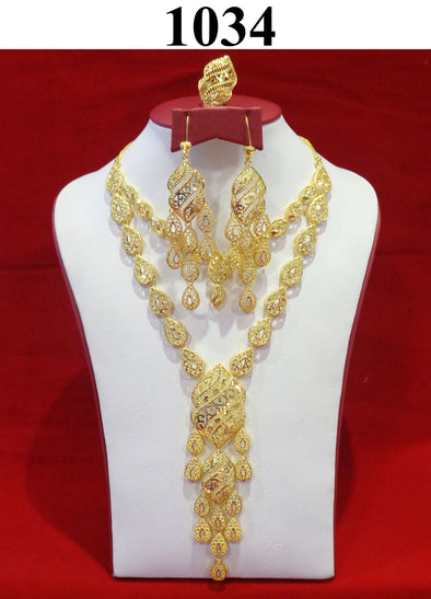 2 Layered Traditional Necklace Set