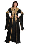 Moroccan Caftan Dress With Golden Beads - Maxim Creation