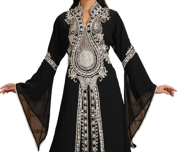 Abaya Maxi with Paisely Embroiderey Work - Maxim Creation