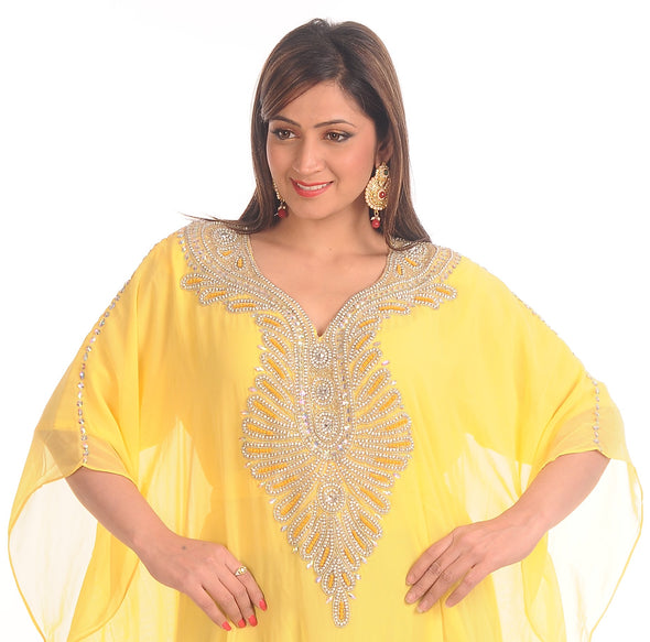 Bestseller Yellow Farasha Boho Maxi Dress - Maxim Creation