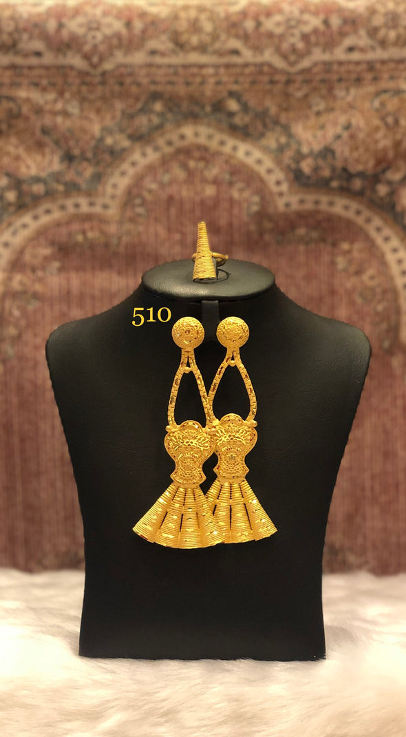 GOLD PLATED DANGLE AND DROP EARRING FOR WOMEN 510 - Maxim Creation
