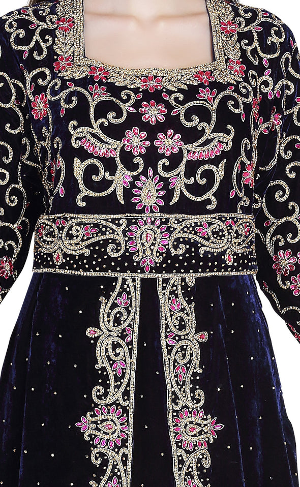 Customized Hand Embroidered Luxe Wedding Kaftan - Maxim Creation