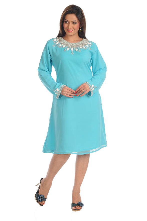 Indian Kurti with White Stones and Pearls 5512