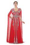 Sleeveless Maxi With Superman Style Cape for Women - Maxim Creation