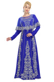 Luxe Crystal Wedding Gown Royal Blue Long Maxi 5843