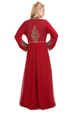 MOROCCAN TAKCHITA ABAYA CRYSTAL WEDDING GOWN