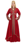 Maroon Wedding Gown French Soiree Robe - Maxim Creation