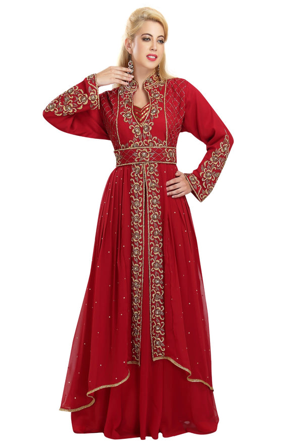 Moroccan Abaya With French Soiree Robe - Maxim Creation