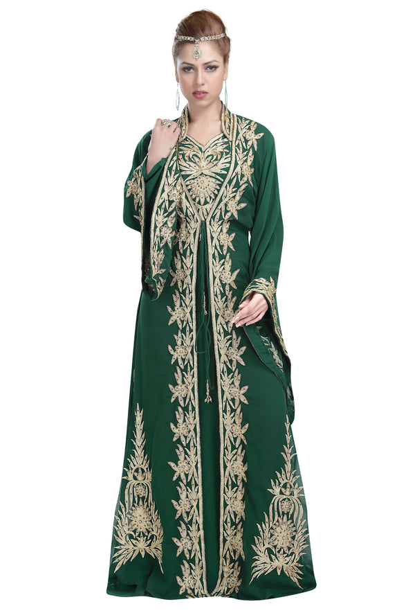 MOROCCAN  NIQAH PARTY DRESS - Maxim Creation