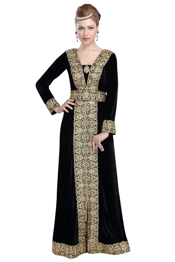 BLACK VELVET LONG MAXI - Maxim Creation