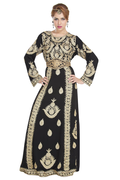 FULL SLEEVE WALIMA PARTY BALL GOWN / ABAYA 6287