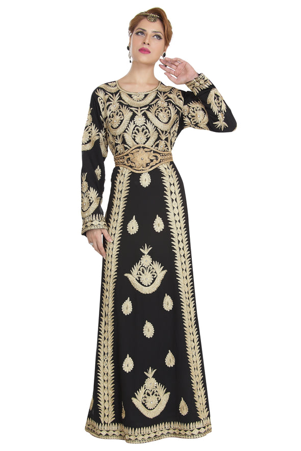 FULL SLEEVE WALIMA PARTY BALL GOWN / ABAYA - Maxim Creation