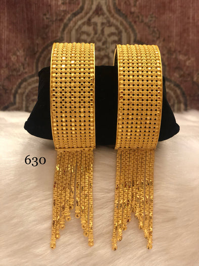 CLASSIC GOLD PLATED ETHNIC BRACELET BANGLES FOR LADIES 630 - Maxim Creation