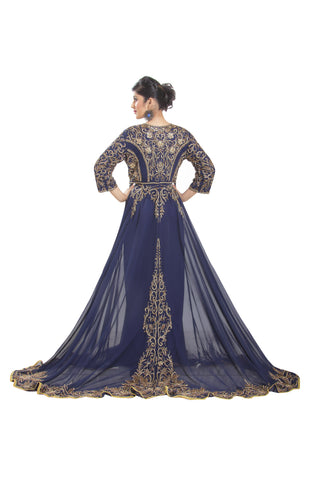 Royal Swedish Ball Gown in Navy Blue 6444