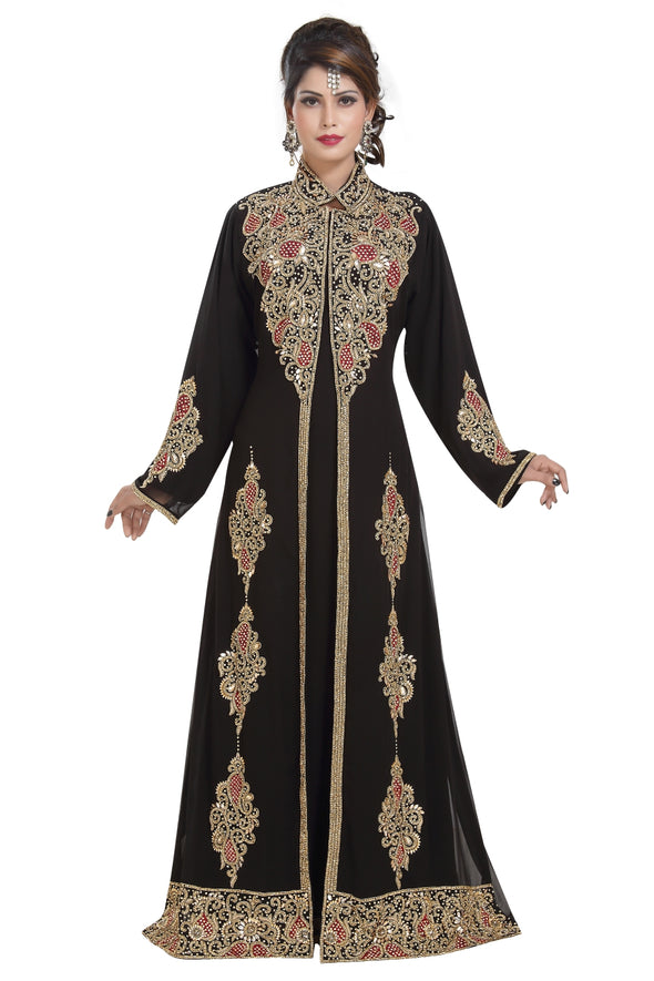 TRADITIONAL PERSIAN DESIGNER ABAYA - Maxim Creation