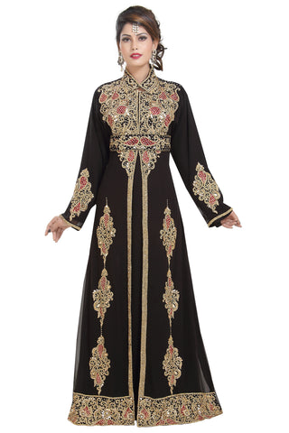 TRADITIONAL PERSIAN DESIGNER ABAYA 6518