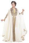 Long Sleeve Wedding Gown Abaya Kaftan 3pcs Set - Maxim Creation