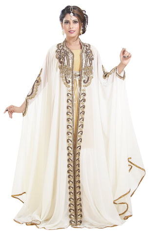 Long Sleeve Wedding Gown Abaya Kaftan
