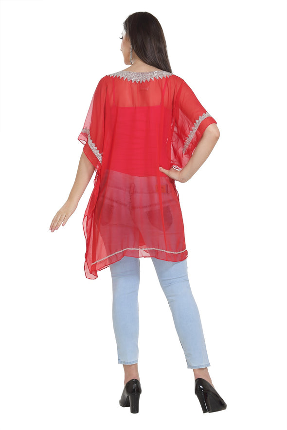 Short Tunic Traditional Embroidered Kurti - Maxim Creation