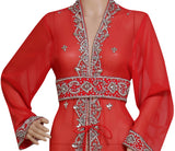 HAND EMBROIDERED JACKET SEQUINS CARDIGAN ABAYA KURTI